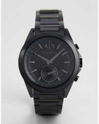 Armani Exchange - Connected Axt1007 Bracelet Hybrid Smart Watch In Black Ip - Lyst