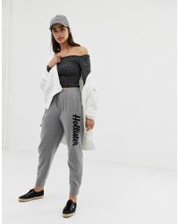 Hollister - Boyfriend Sweatpants With Embroidered Logo - Lyst