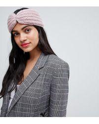 Stitch & Pieces - Blush Knitted Headband - Lyst