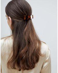 ASOS - Design Barette Hair Clip In Tortoiseshell - Lyst