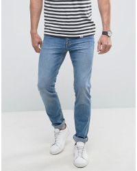 Mango - Man Slim Jeans In Light Wash Blue - Lyst
