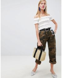 New Look - Camo Print Utility Trouser - Lyst