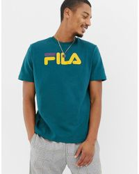 7915a80de73f Fila Black Line Mesh Long Sleeve T-shirt With Logo In White in White ...