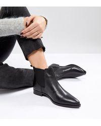 ASOS Кожаные Ботинки Челси Для Широкой Стопы Asos Automatic - Черный