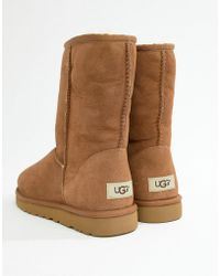 UGG - Classic Short Boots In Chestnut Suede - Lyst