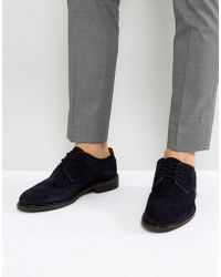 SELECTED - Suede Brogue Shoes - Lyst