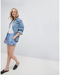 Blend She - Mally Print Shorts - Lyst