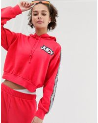 Juicy Couture Juicy By Hoodie With Chest Logo & Taping Two-piece