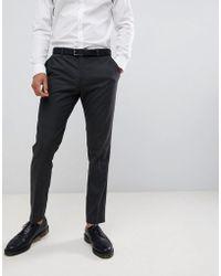 Jack & Jones - Slim Fit Charcoal Plain Suit Trousers - Lyst