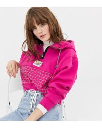 Nike - Archive Pink Graphic Cropped Hoodie - Lyst