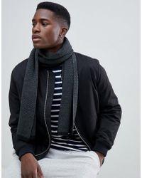 New Look - Scarf In Grey Pattern - Lyst