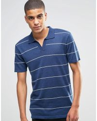 Minimum - Knitted Polo With Open Neck - Lyst