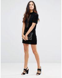 TFNC London - Embossed Fabric Skirt - Lyst