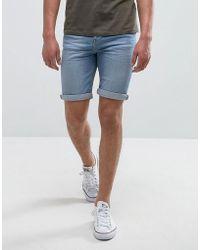 Mango - Man Denim Shorts In Light Wash Blue - Lyst