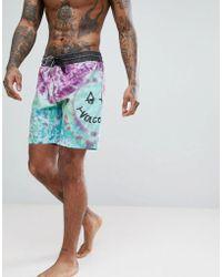 Volcom - Tie Dye Board Shorts - Lyst