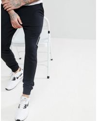 ASOS - Skinny Joggers With Ma1 Pocket In Black - Lyst