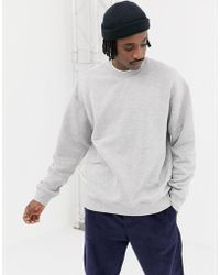 Weekday - Big Steve Sweatshirt In Grey - Lyst