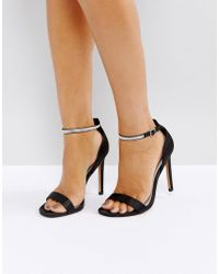 ASOS - Highlighter Jewelled Barely There Heeled Sandals - Lyst