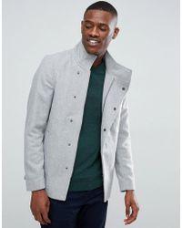 Only & Sons - Asymmetric Wool Overcoat - Lyst