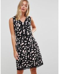 Trollied Dolly - Floral Dress With Lace Trim - Lyst