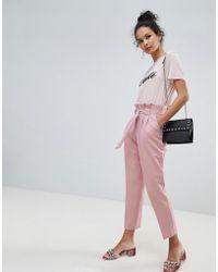 Miss Selfridge - Papaerbag Trouser - Lyst