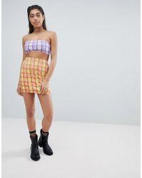 Jaded London - Rhinestone Check Bodycon Skirt Two-piece - Lyst