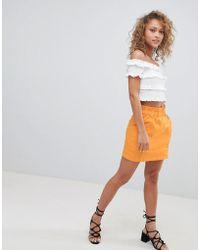 Miss Selfridge - Paperbag Waist Skirt - Lyst