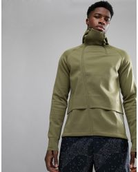Asics - Running Fuzex Knit Jacket In Green 146616-4030 - Lyst
