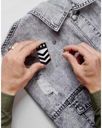ASOS - Pin Badge In Military Design - Lyst