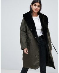 Y.A.S - Draw String Hooded Parka Jacket - Lyst