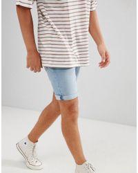 Mango - Man Denim Shorts In Light Blue - Lyst