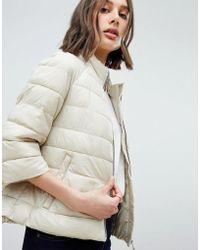 Vero Moda - 3/4 Sleeve Padded Coat - Lyst