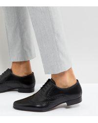 ASOS - Oxford-Halbschuhe aus schwarzem Leder, weite Passform - Lyst