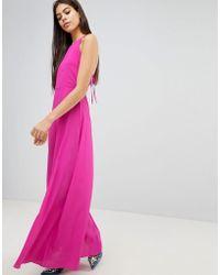 ASOS DESIGN - Asos Open Back Halter Maxi Dress - Lyst
