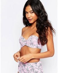 La Belle Rebelle - Cosmic Dancer Rose Bikini Top - Lyst