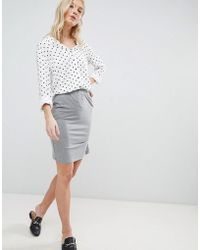 Vero Moda - Gathered Panel Skirt - Lyst