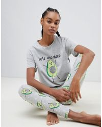 ASOS - Lets Avo Disco Tee & legging Pyjama Set - Lyst