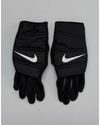 Nike - Quilted Gloves In Black Rg.i9-042 - Lyst