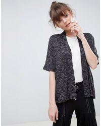 Ichi - Short Sleeved Cardigan - Lyst