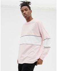 257790ff17983 T-shirt double paisseur Vans pour homme en coloris Rose - Lyst