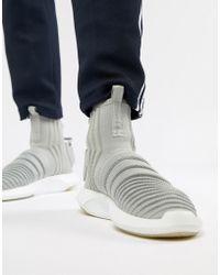 afefc629379 adidas Originals - Crazy Sock Primeknit Sneakers In Gray Cq0984 - Lyst