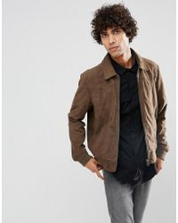 Goosecraft - Suede Jacket In Taupe - Lyst