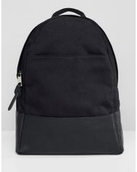 ASOS - Large Canvas Backpack - Lyst