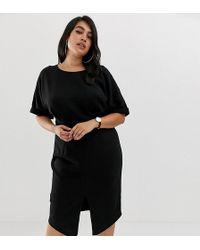 ASOS - Asos Design Curve wiggle Midi Dress - Lyst
