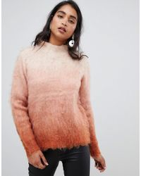 Vila - Ombre Knitted Jumper - Lyst