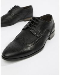 New Look - Faux Leather Brogue In Black - Lyst