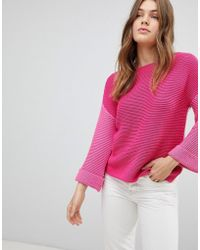 Esprit - Colour Block Knitted Jumper - Lyst