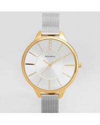 Sekonda - Mesh Watch In Silver/gold Exclusive To Asos - Lyst