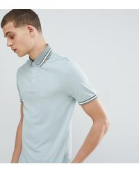 Ted Baker - T For Tall Polo Shirt In Blue With Contrast Tipping - Lyst