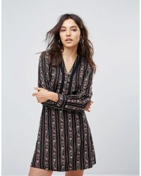 Liquorish - Printed Dress With Ladder Detail - Lyst
